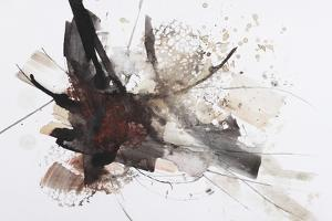 Black and Red Abstract Brush Painting by shooarts