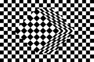 Black And White Cube Optical Illusion by shooarts