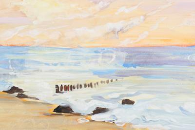 Sea Landscape And Sunset Painting by shooarts