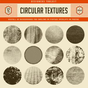 Set of 12 Highly Detailed Circular Vector Textures - Great as Backgrounds for Vintage Emblems or As by shootandwin