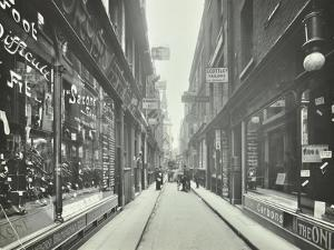Shop Windows, Looking South from Cheapside, London, May 1912