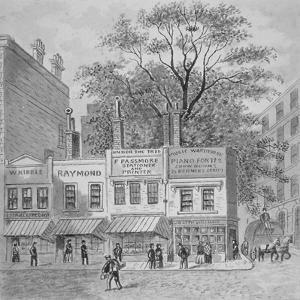 Shops on Cheapside, City of London, 1870