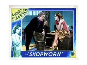 Shopworn, from Left, Joe Sawyer, Barbara Stanwyck, 1932