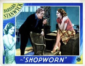 Shopworn, from Left, Joe Sawyer, Barbara Stanwyck, 1932