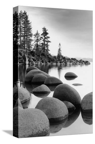 Shoreline, Lake Tahoe--Stretched Canvas Print