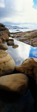 Shoreline Rocks and Reflective Tide Pool, Point Lobos State Reserve, California