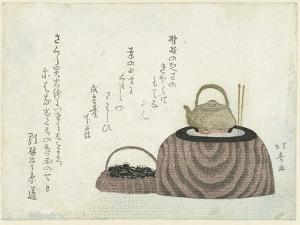 Tea Kettle on the Stove by Shotei Hokuju