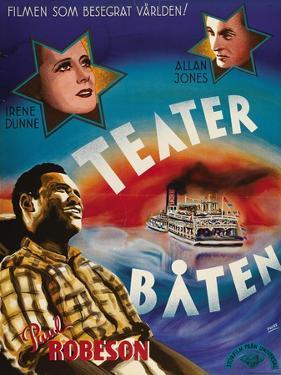 Show Boat, Swedish Movie Poster, 1936