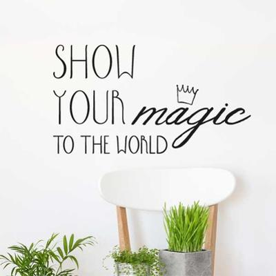Show Your Magic EN Wall Decal