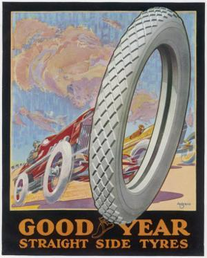 Showcard for Goodyear Straight Side Tyres