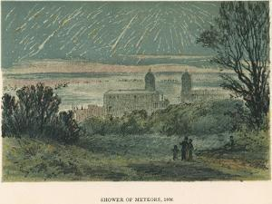 Shower of Meteors (Leonid) Observed over Greenwich, London, 1866