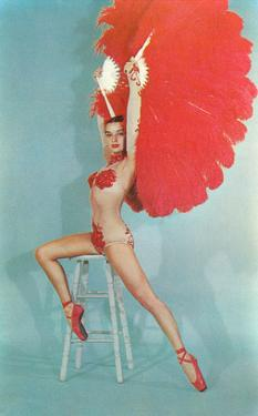 Showgirl with Red Feathers, Retro