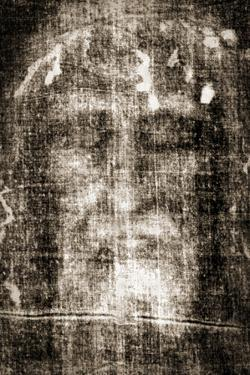 Shroud of Turin Face Detail Plastic Sign