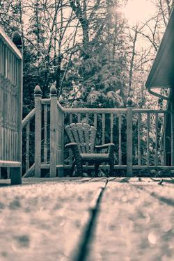 Snow Covered Muskoka Chair - Retro by SHS Photography