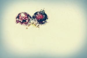 Snowy Christmas Baubles - Retro, Faded by SHS Photography