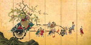 Flowercart With Children I by Shumboku Ooka