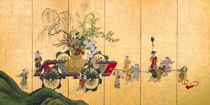 Flowercart With Children II by Shumboku Ooka