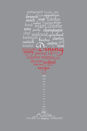 Food and Dining Concept on a Wine Glass Shaped Word Collage by shutter4543