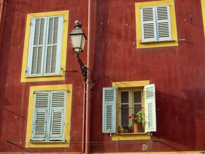 Shuttered Windows in the Old Town, Nice, Provence, France by I Vanderharst