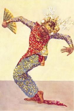Siamese Dancer with Fan