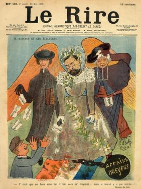 Caricature of Joseph Reinach, from the Front Cover of 'Le Rire', 28th May 1898 by Sibylle-Gabrielle de Riquetti de Mirabeau