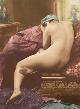 Classic Vintage French Nude - Hand-Colored Tinted Art by SIC Photo Studio