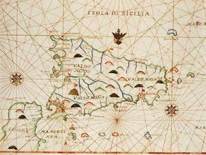 Sicily from Portolan Atlas Consisting of Six Charts
