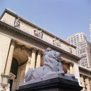 New York Public Library by Sid Birns