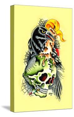 Crow & Skull by Sid Stankovits