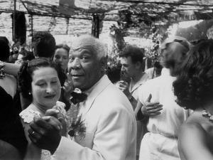 Sidney Bechet Dancing with His Wife, Elizabeth Ziegler, at their Wedding at Antibes French Riviera