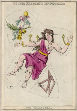 Andromeda (Gloria Federici) in Chains Plus Triangles Constellation by Sidney Hall