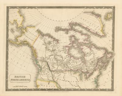 British North America, 1829 by Sidney Hall