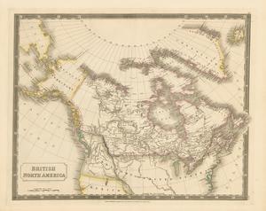 British North America, 1829 by Sidney Hall