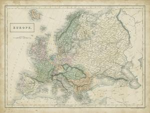 Map of Europe by Sidney Hall