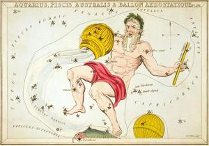 Urania's Mirror, Aquarius, 1825 by Sidney Hall