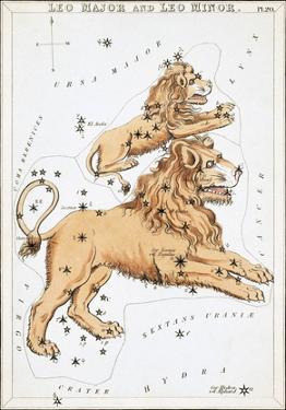 Urania's Mirror, Leo, 1825 by Sidney Hall