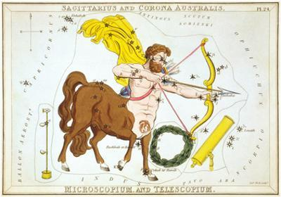 Urania's Mirror, Sagittarius, 1825 by Sidney Hall