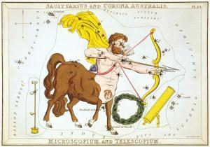 Urania's Mirror, Sagittarius, 1825 by Sidney Hall