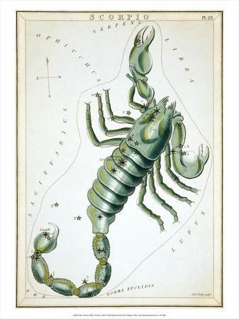 Urania's Mirror, Scorpio, 1825