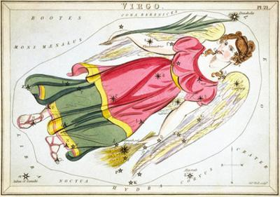 Urania's Mirror, Virgo, 1825 by Sidney Hall