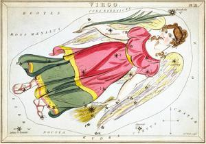 Urania's Mirror, Virgo, 1825 by Sidney Hall