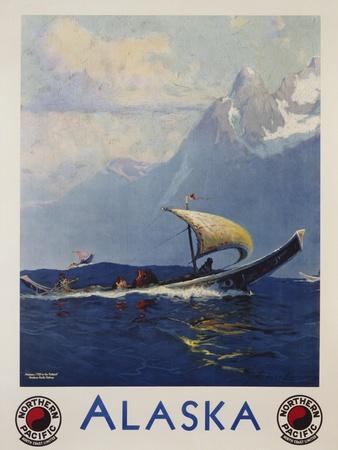 Alaska - Northern Pacific Railway Travel Poster