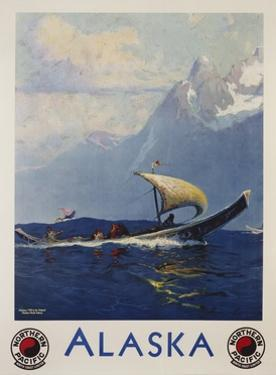 Alaska - Northern Pacific Railway Travel Poster by Sidney Laurence