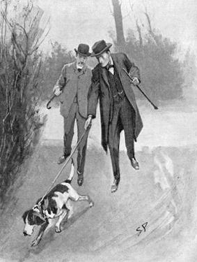 Holmes and Watson, Dog, C20 by Sidney Paget