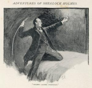 The Adventure of the Speckled Band, Sherlock Holmes Lashes out at the Band by Sidney Paget