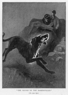 The Hound of the Baskervilles Holmes and Watson Watch the Fearful Hound by Sidney Paget
