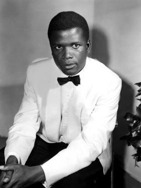 Sidney Poitier, on the Set for the Film Mark of the Hawk, 1957