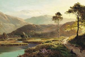 A View of Ambleside by Sidney Richard Percy