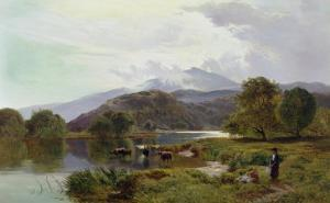 Day on the River, North Wales by Sidney Richard Percy