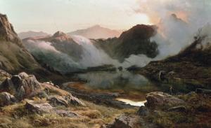 Early Morning, North Wales, 1871 by Sidney Richard Percy